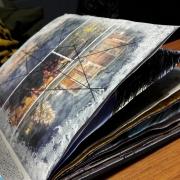 Aufgeschlagenes Skizzenbuch